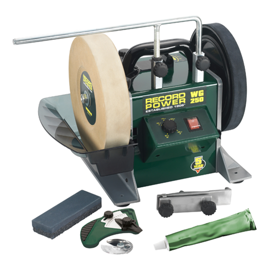 "Record Power WG250 PK/A 10"" Wet Stone Sharpening System Package Deal"