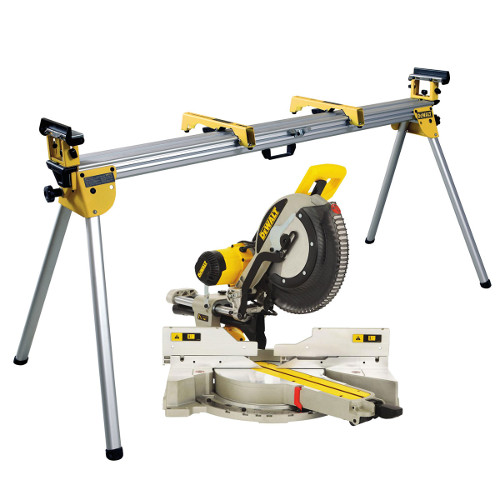 Dewalt DWS780 XPS 240V Slide Mitre Saw With DE7023 Work Stand