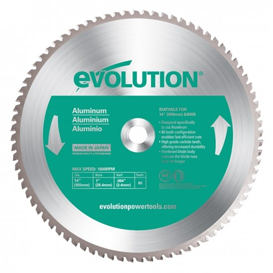 Evolution 355mm Aluminium Cutting Blade