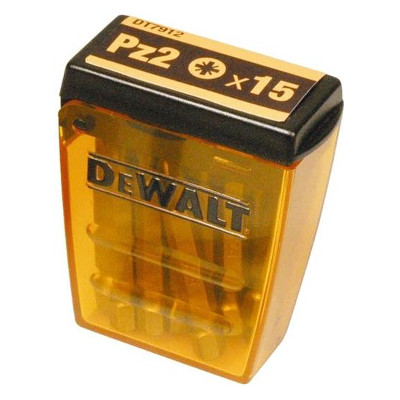 15 x 50mm Pz2 DT7912-QZ Dewalt IMPACT Bits Pack of 15
