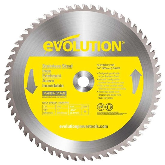 Evolution 355mm Stainless Steel Cutting Blade