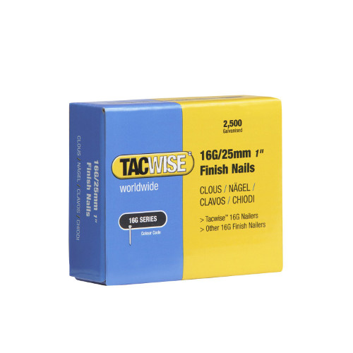 Tacwise 16G/25mm Brad Nails